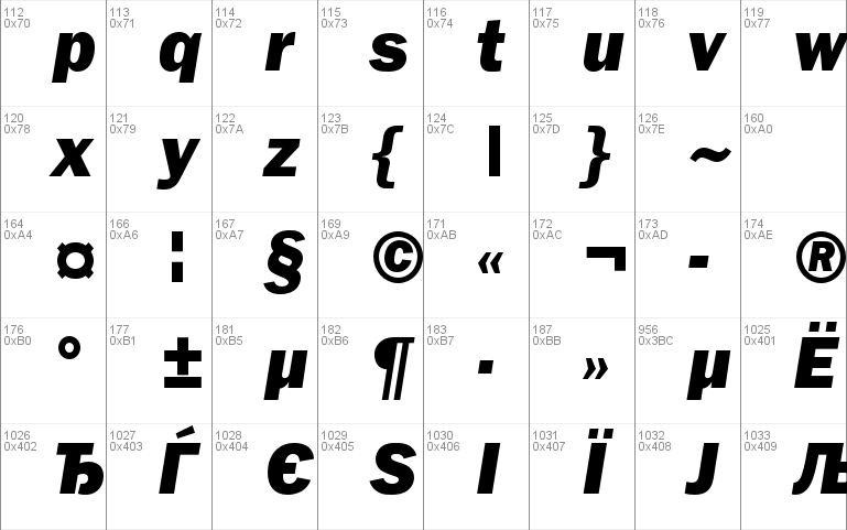 FranklinGothicHeavyC font - free for Personal