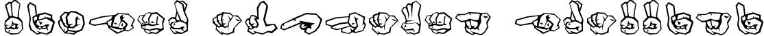 Finger Alphabet Graffiti