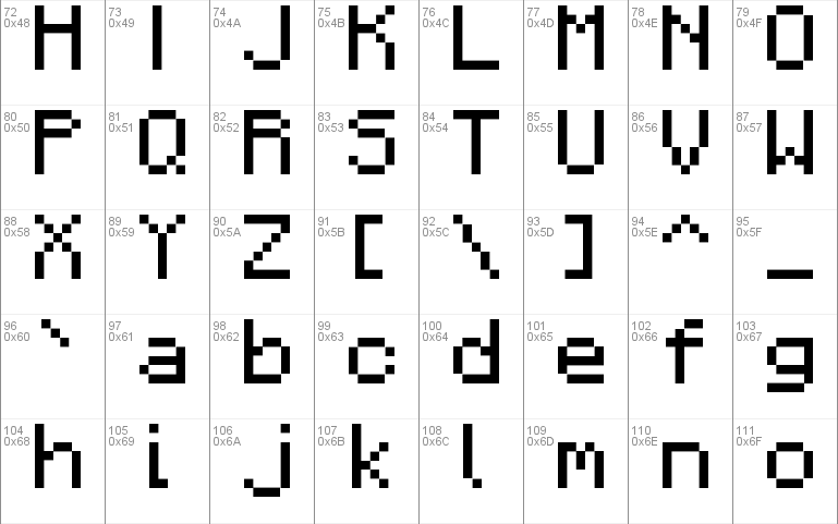 F77 Minecraft Windows font - free for Personal | Commercial