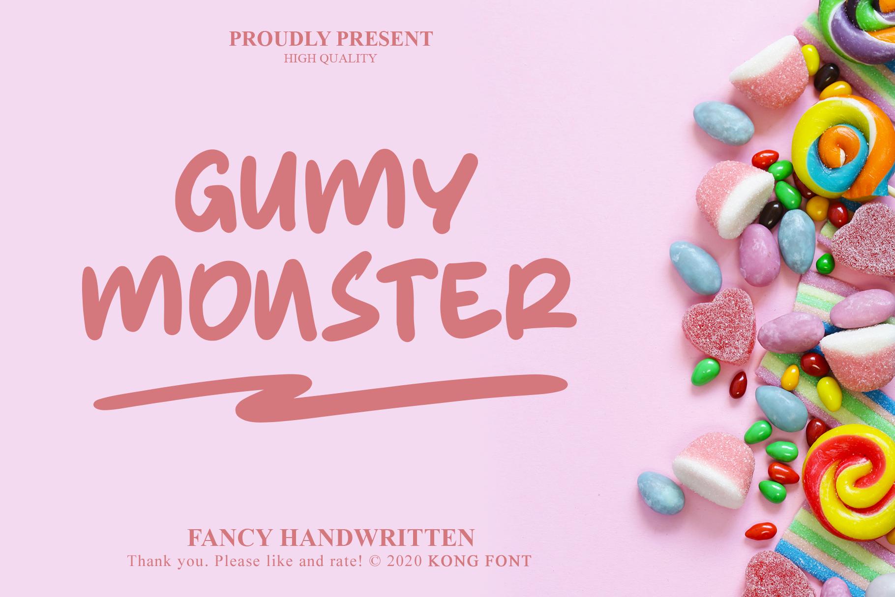 Gumy Monster Italic