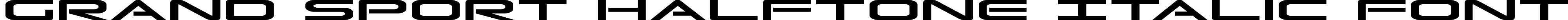 Grand Sport Halftone Italic Font