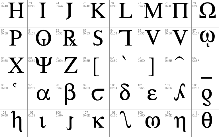 Greek Windows font - free for Personal