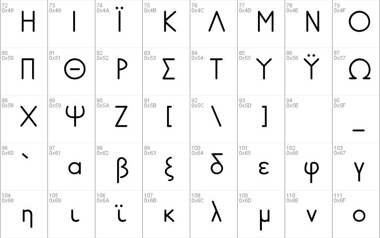 Greek Futura LDR Windows font - free for Personal