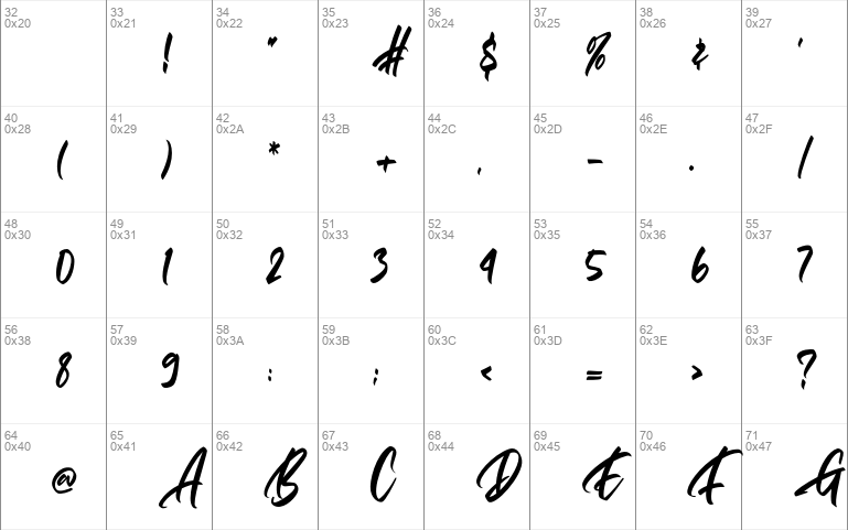 Gallardo calligraphy script