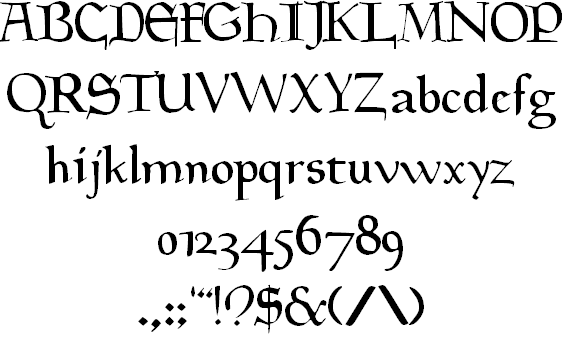 Goudy Medieval Windows font - free for Personal