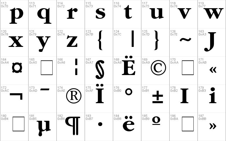 Garamond-Bold Windows font - free for Personal
