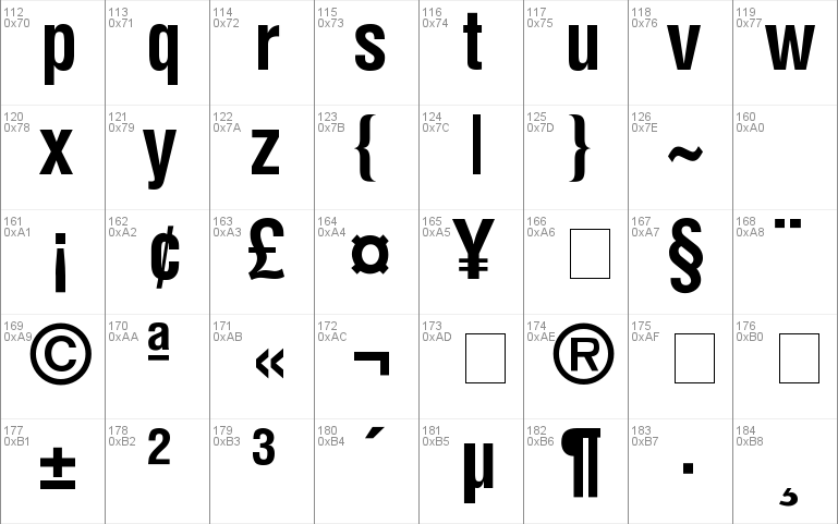 Helvetica-CondensedBold Windows font - free for Personal