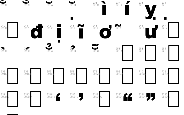 HP-Arial-Black font - free for Personal