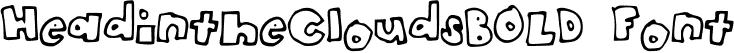 HeadintheCloudsBOLD Font