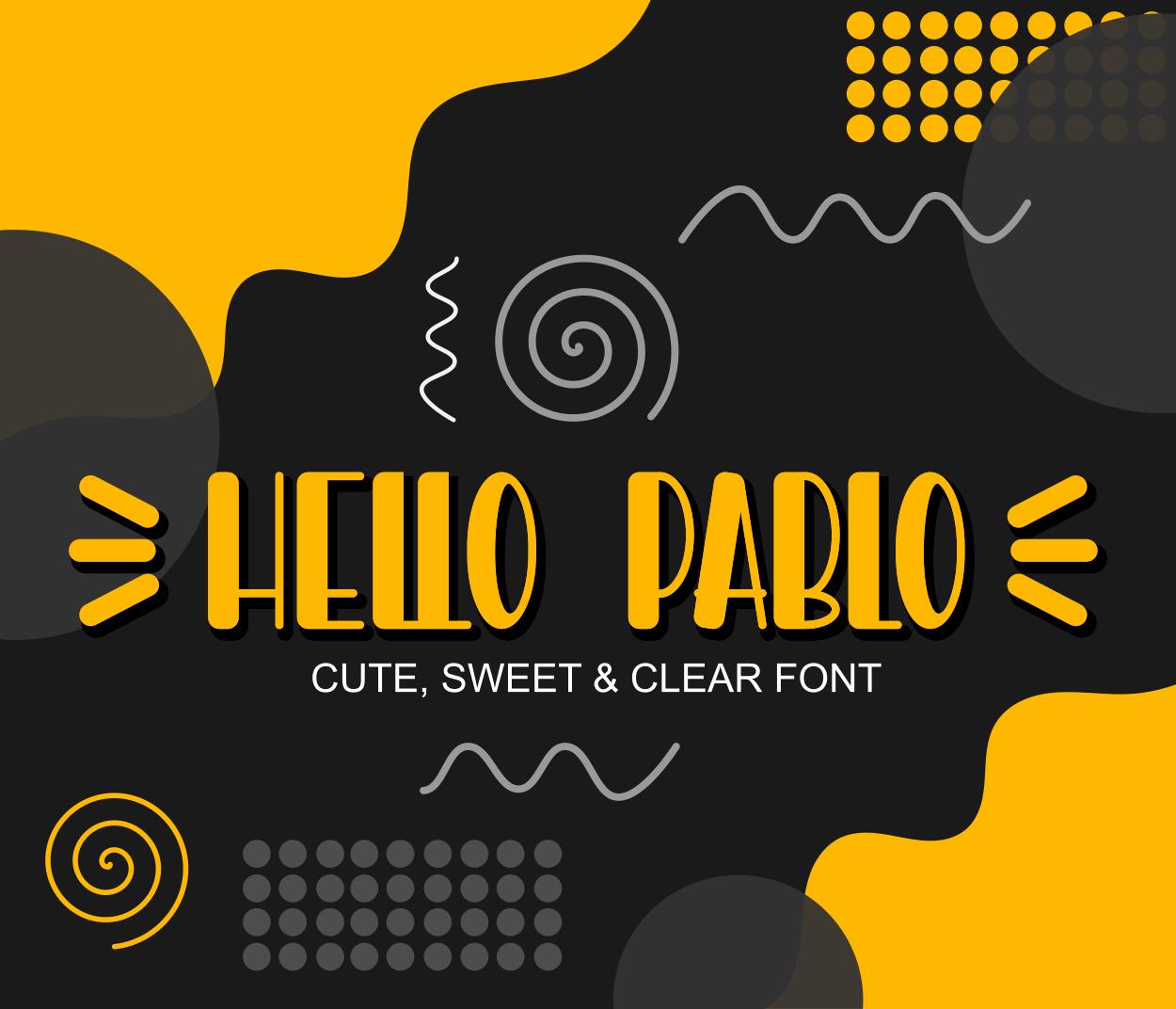 Hello Pablo
