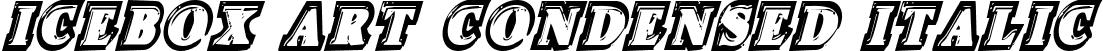 Icebox Art Condensed Italic