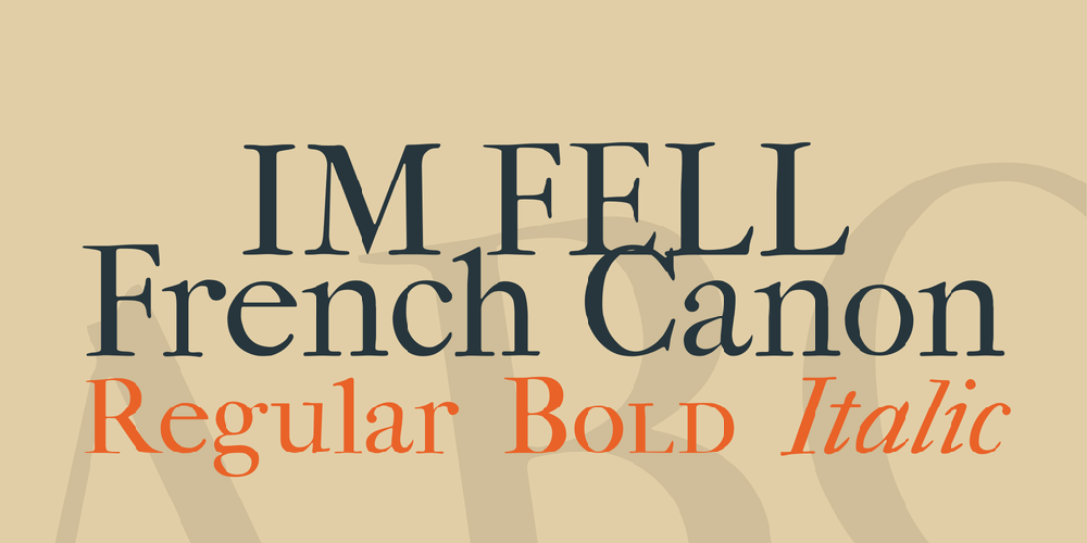 IM FELL French Canon