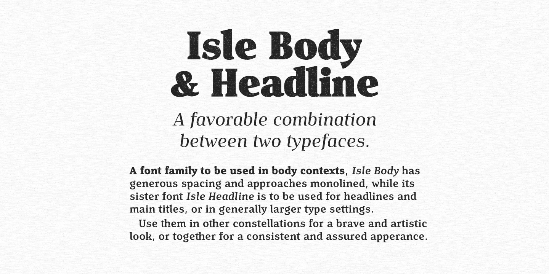 Isle Headline PERSONAL USE