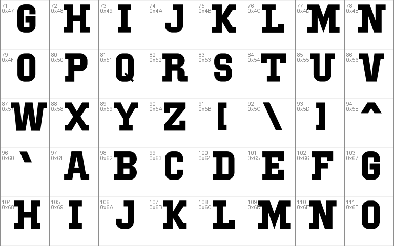 IBM Block Serif font - free for Personal