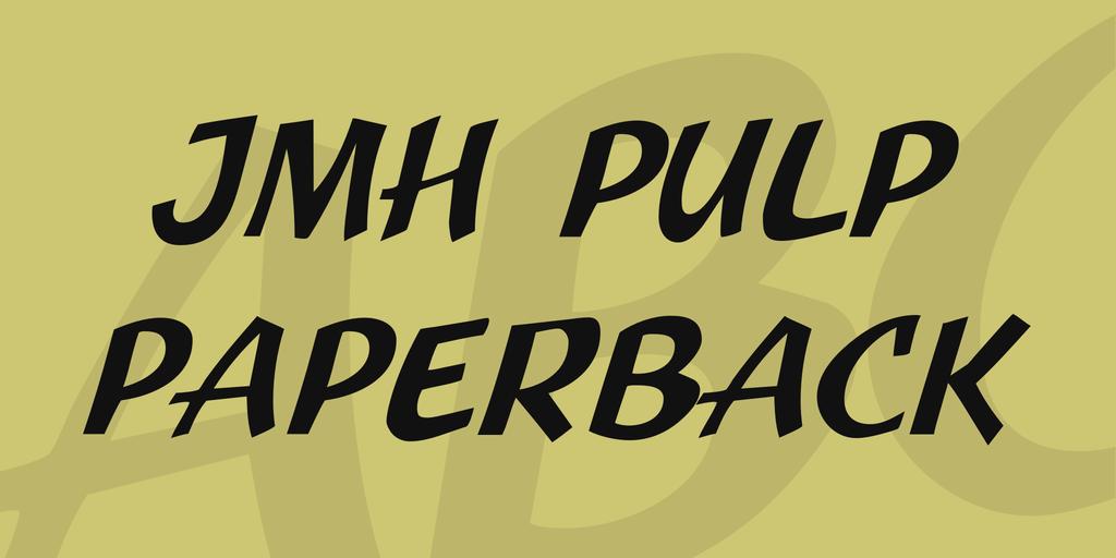 JMH Pulp Paperback