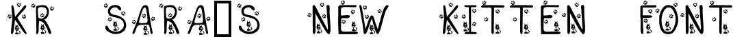 KR Sara's New Kitten Font