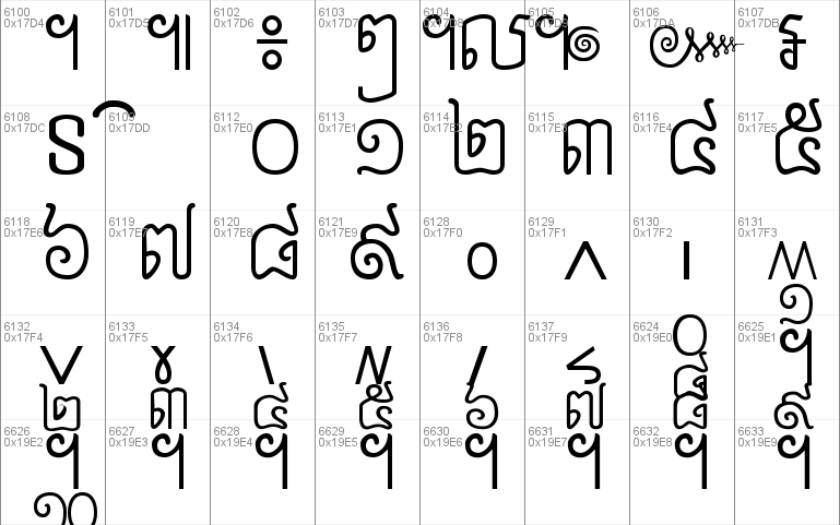 Khmer Nettra Windows font - free for Personal | Commercial