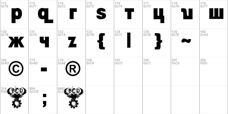 Kremlin Minister Black 3D Bold Font Windows font - free for