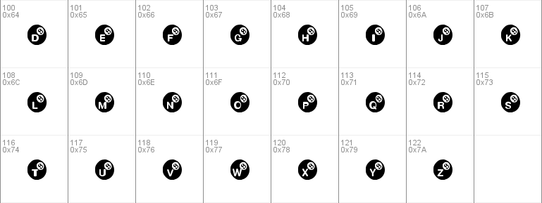 KR Eight Ball Windows font - free for Personal | Redistribution Allowed