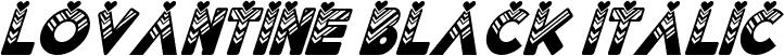 Lovantine Black italic