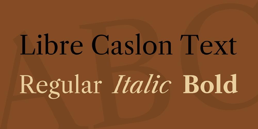 Libre Caslon Text