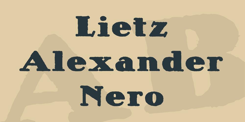 Lietz Alexander Nero