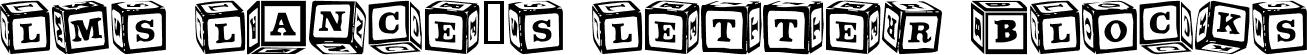 LMS Lance's Letter Blocks