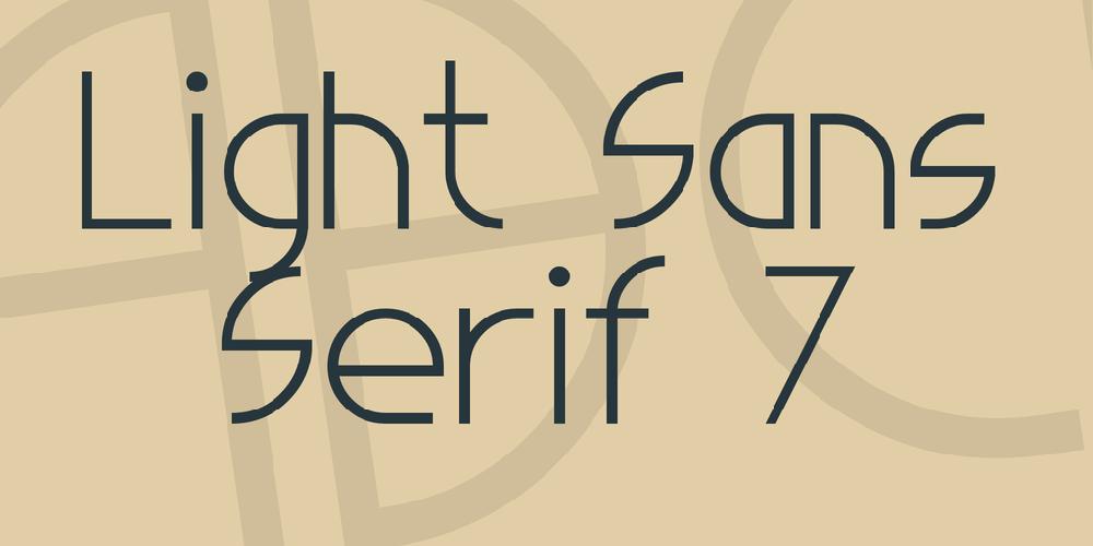 Light Sans Serif 7