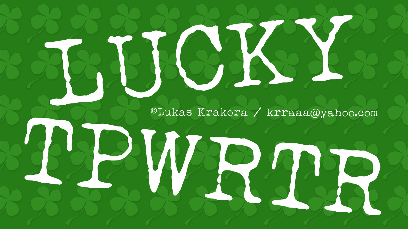 Lucky Typewriter Font Free For Personal