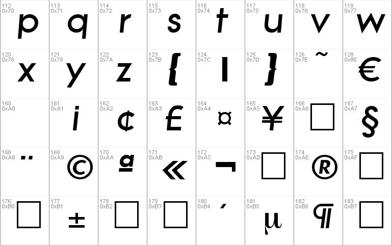 Litera-HeavyIta Windows font - free for Personal