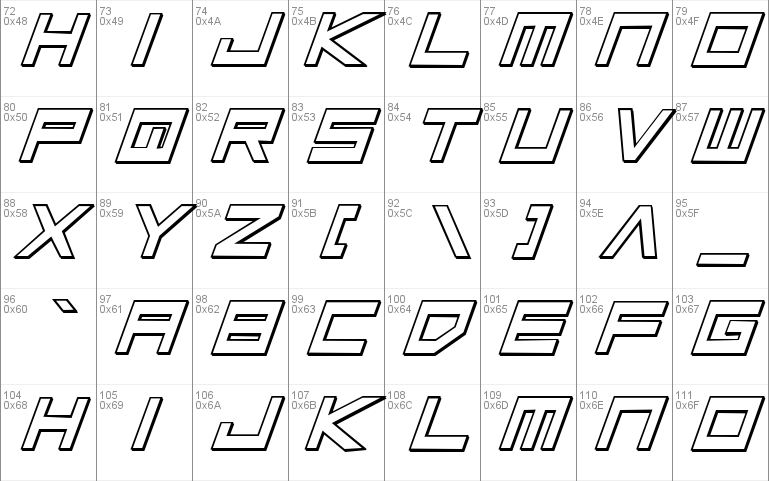 Low Gun Screen Bold Italic 3D font - free for Personal