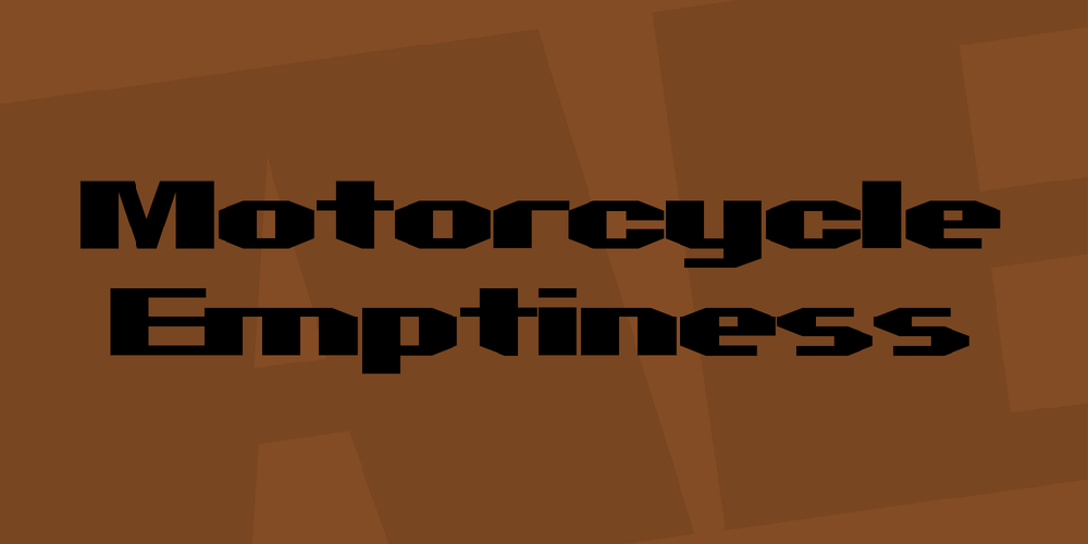 Motorcycle Emptiness
