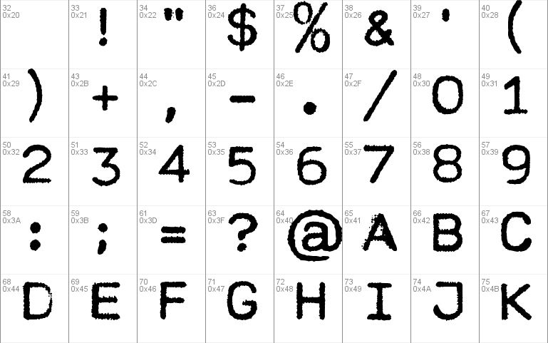 MODERN TYPEWRITER Font font - free for Personal