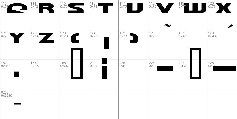 Morse NK Font