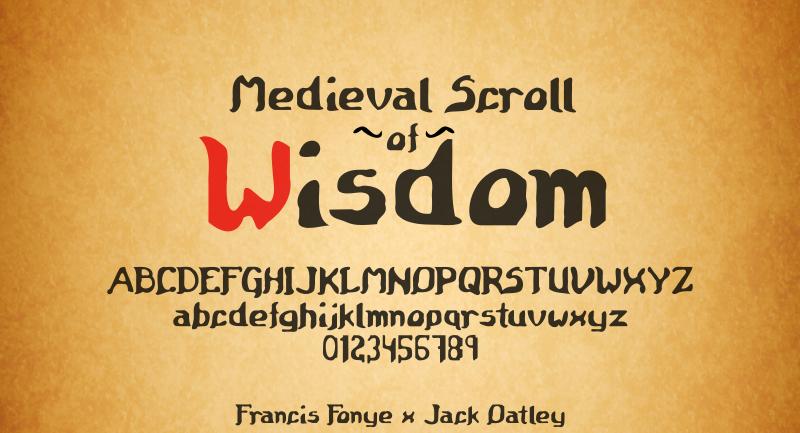 Medieval Scroll of Wisdom
