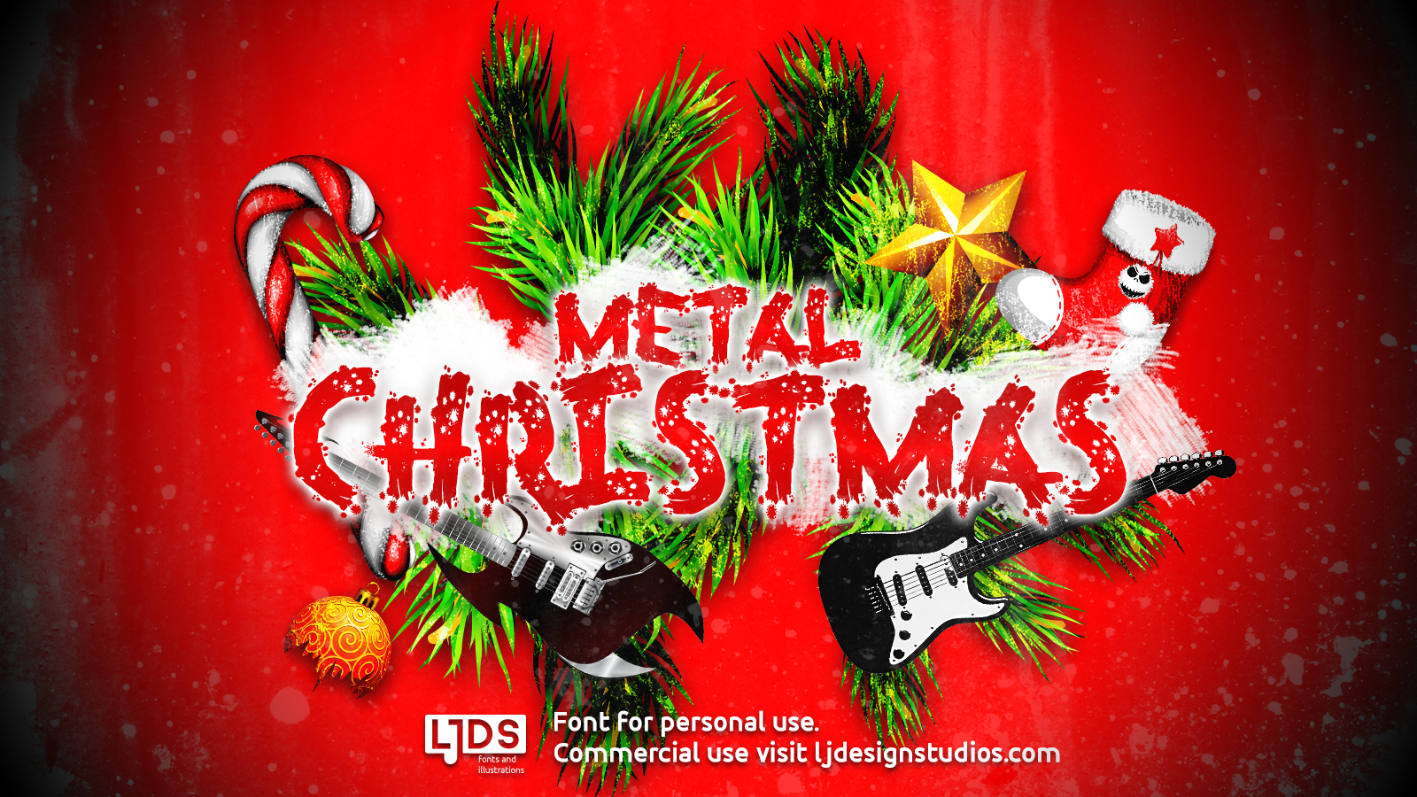 Heavy Metal Christmas.Metal Christmas Personal Use Font Free For Personal