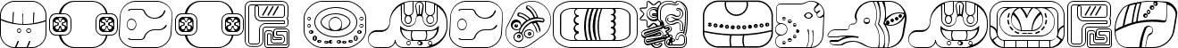 mayan glyphs outline