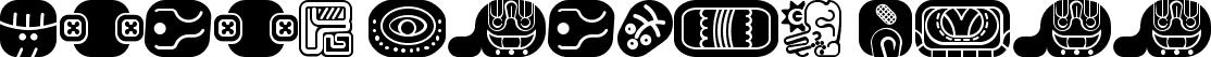 mayan glyphs fill