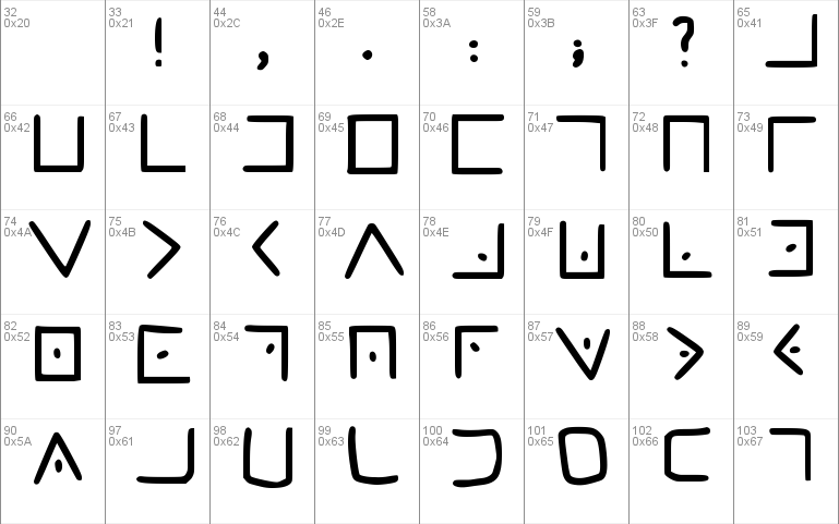 Masonic Cipher Font Free For Personal Commercial