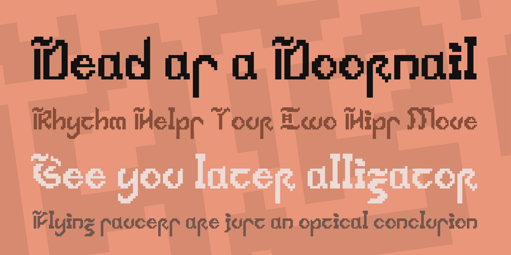 Medieval Pixular Windows font - free for Personal