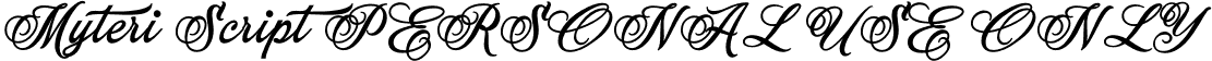 Myteri Script PERSONAL USE ONLY