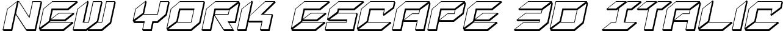 New York Escape 3D Italic