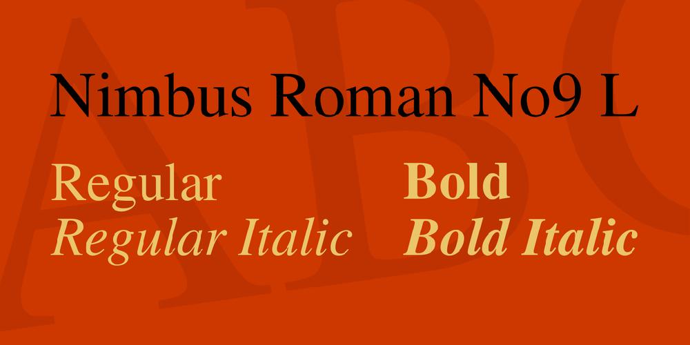 Nimbus Roman No9 L
