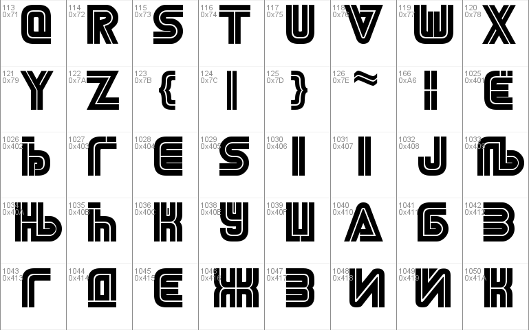 NiseSega Cyrillic font - free for Personal
