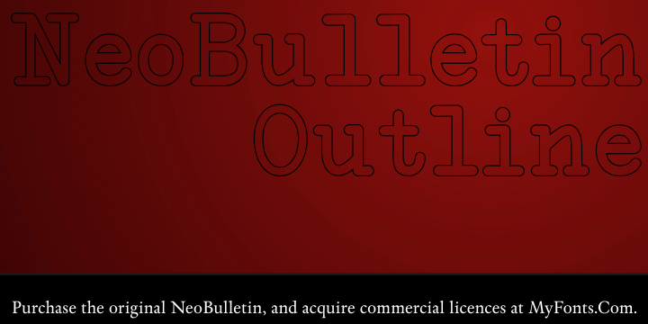 NeoBulletin Outline Windows font - free for Personal
