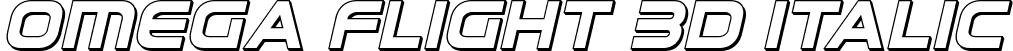 Omega Flight 3D Italic
