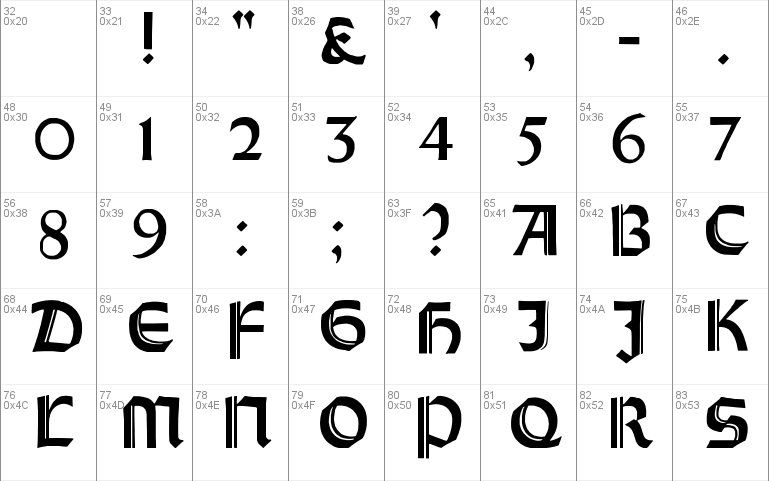 Orotund Capitals font - free for Personal