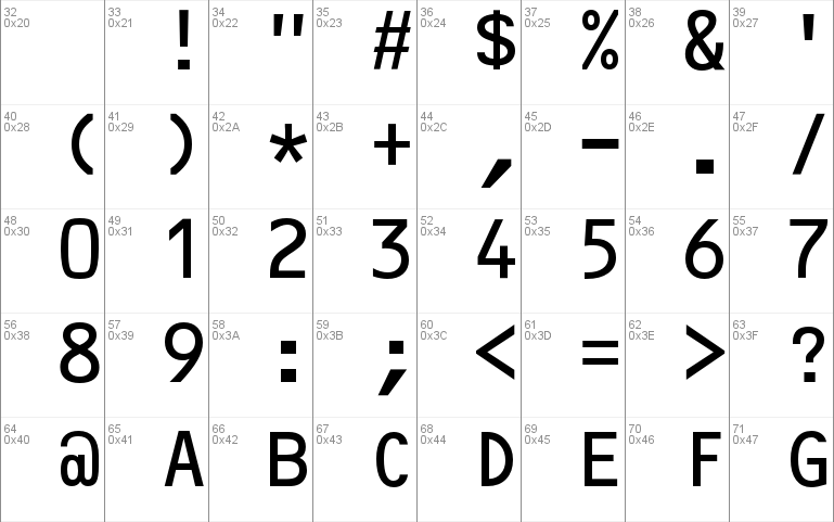 OCR-B10PitchBT font - free for Personal