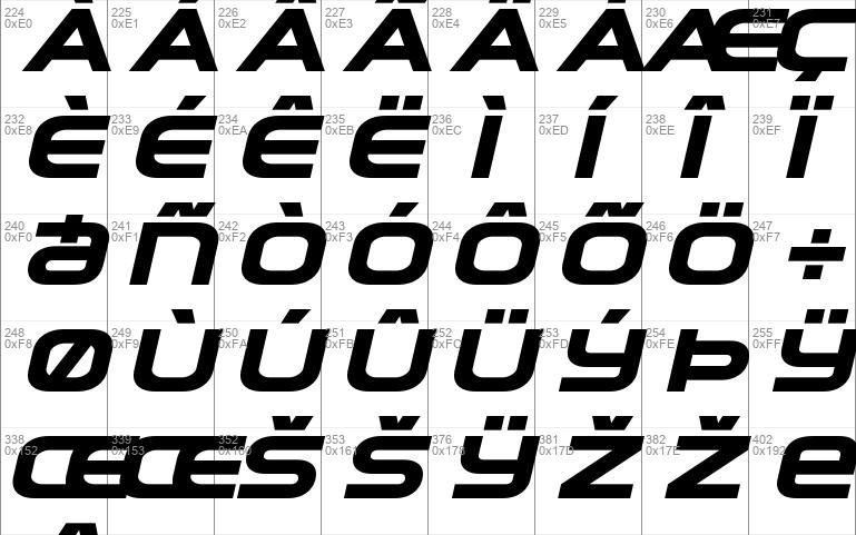 Omega Flight Expanded Italic