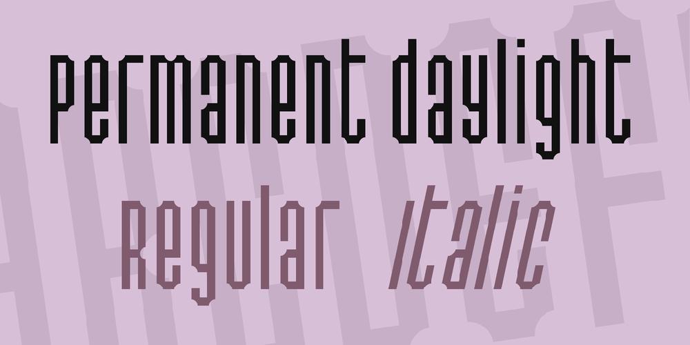 Permanent daylight